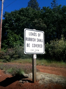 ... and you shall cover loads of rubbish!